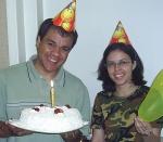 Eu e o pastor comemoração em outro aniversário.